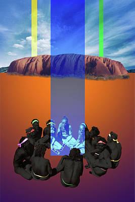 Gaia Digital Art - Mens Circle by Mark Myers