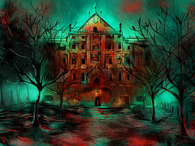 Mansion Digital Art - Mental Hospital by Patricia C Bernhard