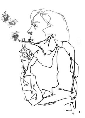 Drawing - Menthol by Jim Vance