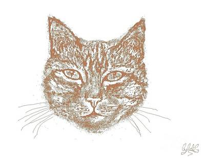 Wall Art - Digital Art - Meow by Cybele Chaves