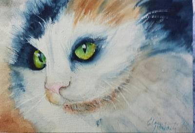 Meow II Art Print by Elaine Frances Moriarty