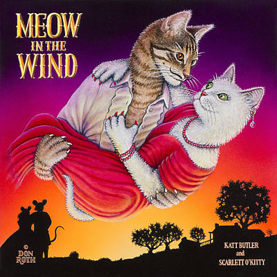 Painting - Meow In The Wind by Don Roth