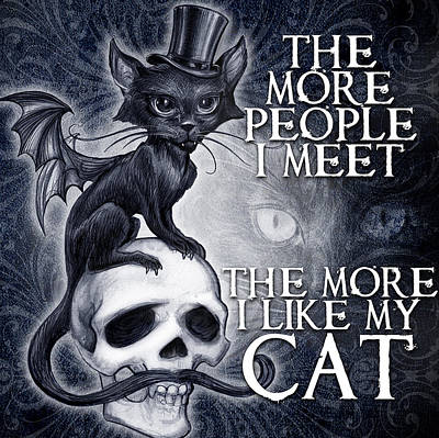 Gothic Mixed Media - Meowstopheles by Alchemy