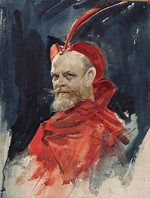 Anders Zorn Drawing - Mephisto. Consul Harald Johan Dahlander by Anders Zorn