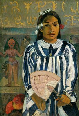 Fruit Stand Painting - Merahi Metua No Tehamana, The Ancestors Of Tehamana by Paul Gauguin