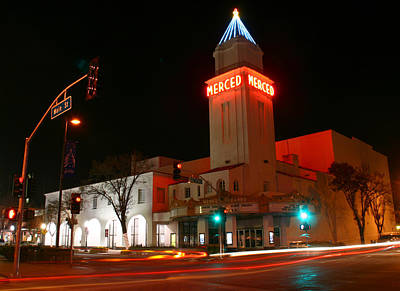 Photograph - Merced At Night by Tom Kidd