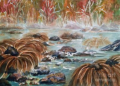 Painting - Merced River Yosemite Autumn by Ellen Levinson