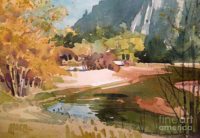 Merced River Encounter Art Print by Donald Maier
