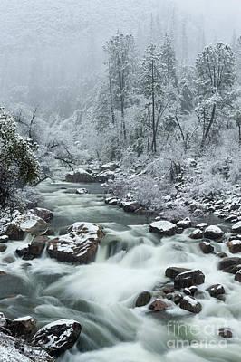 Photograph - Merced River In Winter In Yosemite National Park by Tibor Vari