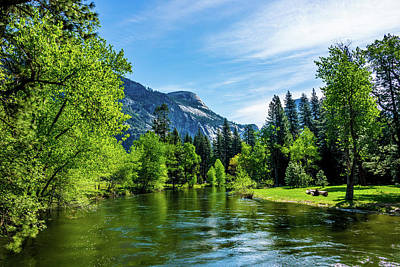 Merced River In Yosemite Valley Art Print