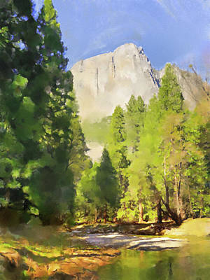Painting - Merced River by Lutz Baar