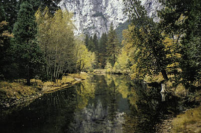 Photograph - Merced River Reflection by Richard Verkuyl