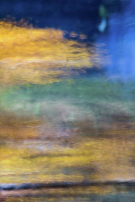 Abstract Moon Photograph - Merced River Reflections 12 by Larry Marshall