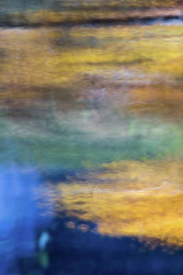 Abstract Moon Photograph - Merced River Reflections 13 by Larry Marshall