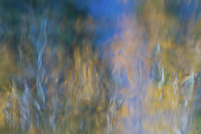 Abstract Moon Photograph - Merced River Reflections 14 by Larry Marshall