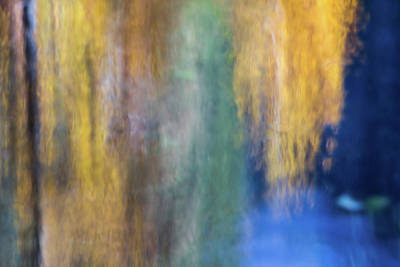 Abstract Moon Photograph - Merced River Reflections 17 by Larry Marshall