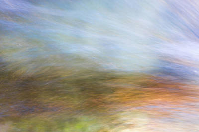 Nature Abstract Photograph - Merced River Reflections 21 by Larry Marshall