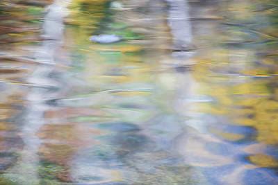 Nature Abstract Photograph - Merced River Reflections 6 by Larry Marshall