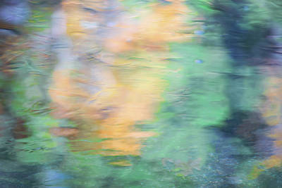 Abstract Moon Photograph - Merced River Reflections 7 by Larry Marshall