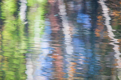Abstract Moon Photograph - Merced River Reflections 8 by Larry Marshall