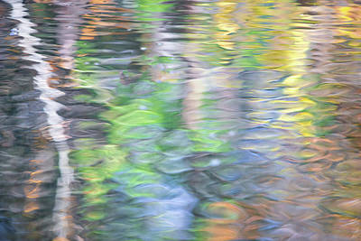 Abstract Moon Photograph - Merced River Reflections 9 by Larry Marshall