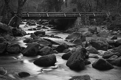 Photograph - Merced River Wood Bridge by Dusty Wynne