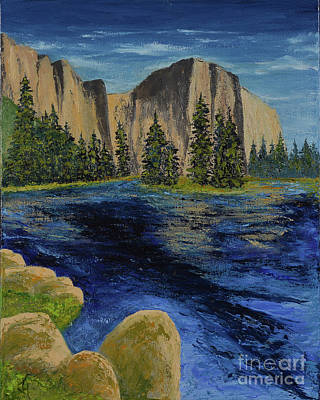 Painting - Merced River, Yosemite Park by Jack Hedges