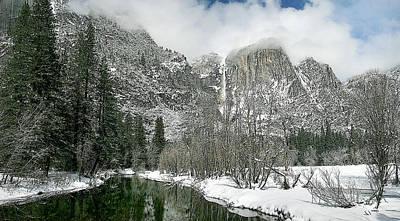 Merced Yosemite Falls Winter California Landscape Art Art Print by Larry Darnell
