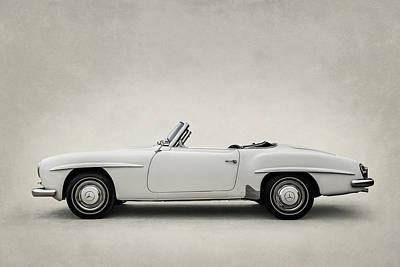 Digital Art - Mercedes 190sl by Douglas Pittman