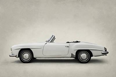 Digital Art - Mercedes 190sl by Douglas Pittman