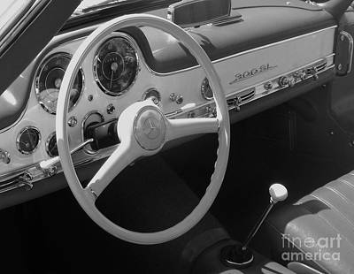 Photograph - Mercedes 300sl Dashboard by Neil Zimmerman