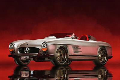 Painting - Mercedes 300sl Daytona Roadster by Jan Keteleer