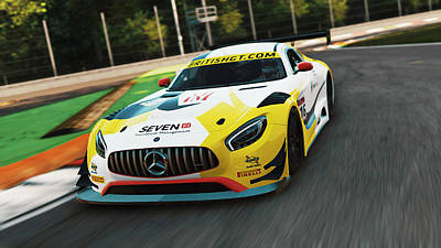 Photograph - Mercedes Amg Gt3 - 19 by Andrea Mazzocchetti