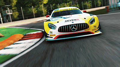 Photograph - Mercedes Amg Gt3 - 20 by Andrea Mazzocchetti