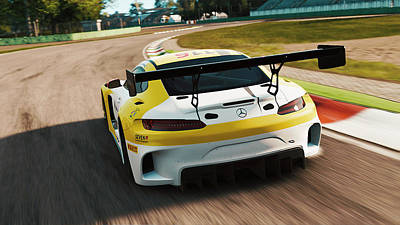 Photograph - Mercedes Amg Gt3 - 21 by Andrea Mazzocchetti