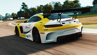 Photograph - Mercedes Amg Gt3 - 22 by Andrea Mazzocchetti