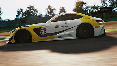 Photograph - Mercedes Amg Gt3 - 23 by Andrea Mazzocchetti
