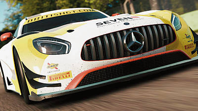 Photograph - Mercedes Amg Gt3 - 24 by Andrea Mazzocchetti