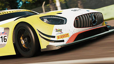 Photograph - Mercedes Amg Gt3 - 25 by Andrea Mazzocchetti