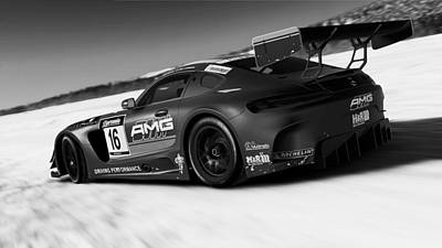 Photograph - Mercedes Amg Gt3 - 27 by Andrea Mazzocchetti