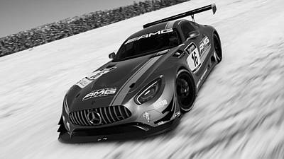 Photograph - Mercedes Amg Gt3 - 29 by Andrea Mazzocchetti