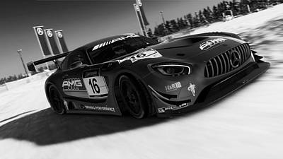 Photograph - Mercedes Amg Gt3 - 30 by Andrea Mazzocchetti