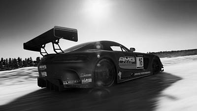 Photograph - Mercedes Amg Gt3 - 32 by Andrea Mazzocchetti