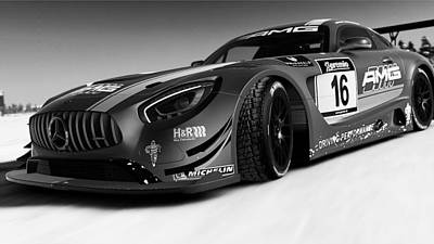 Photograph - Mercedes Amg Gt3 - 37  by Andrea Mazzocchetti