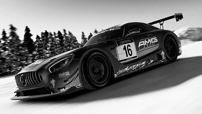 Photograph - Mercedes Amg Gt3 - 43 by Andrea Mazzocchetti