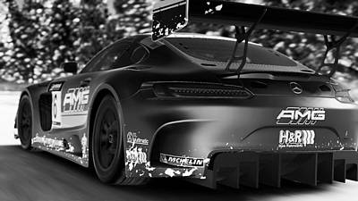 Photograph - Mercedes Amg Gt3 - 44 by Andrea Mazzocchetti