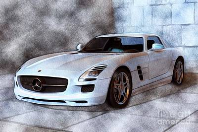 Sports Paintings - Mercedes AMG Supercar by Esoterica Art Agency