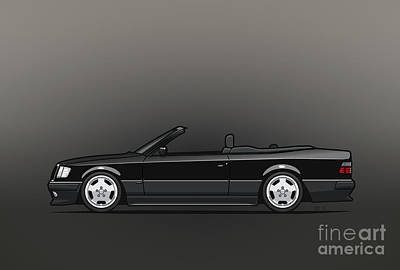 Mercedes Benz Amg A124 W124 300e E-class Black Cabrio Original by Monkey Crisis On Mars