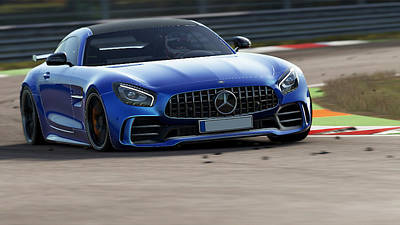 Photograph - Mercedes Benz Amg Gtr - 46 by Andrea Mazzocchetti
