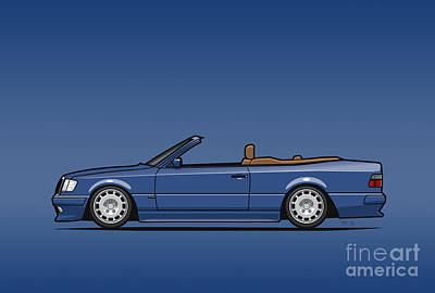 Mercedes Benz Carlsson A124 W124 300e E-class Blue Cabrio Original by Monkey Crisis On Mars
